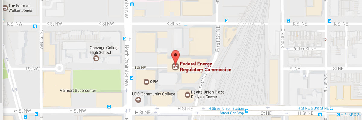 FERC location in Washington DC