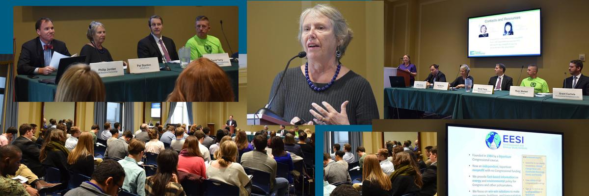 Pat Stanton presents on EESI panel legislative briefing Energy Efficiency Jobs in America