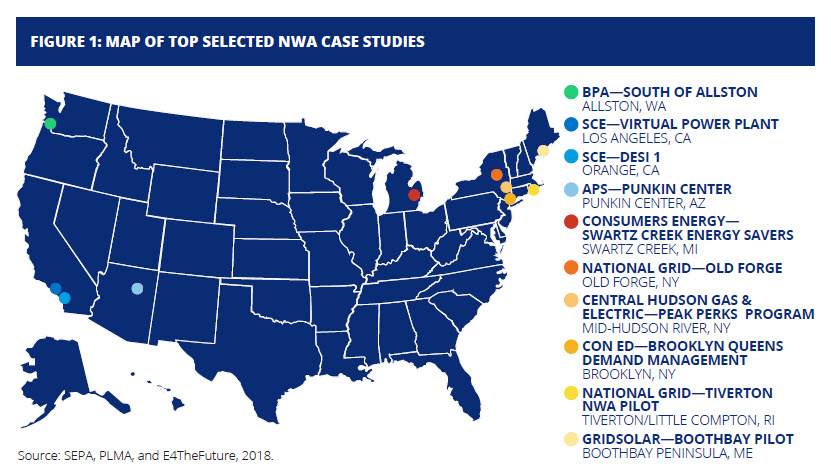 Non-Wires Alternatives-case-studies-map