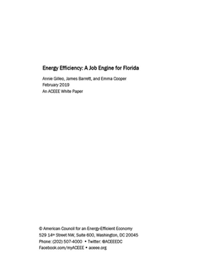 Cover page of ACEEE white paper by Annie Gilleo, James Barrett, and Emma Cooper