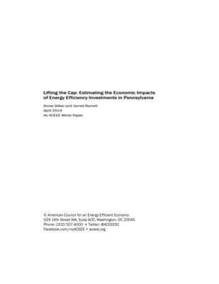 ACEEE paper analyzing Pennsylvania energy efficiency jobs