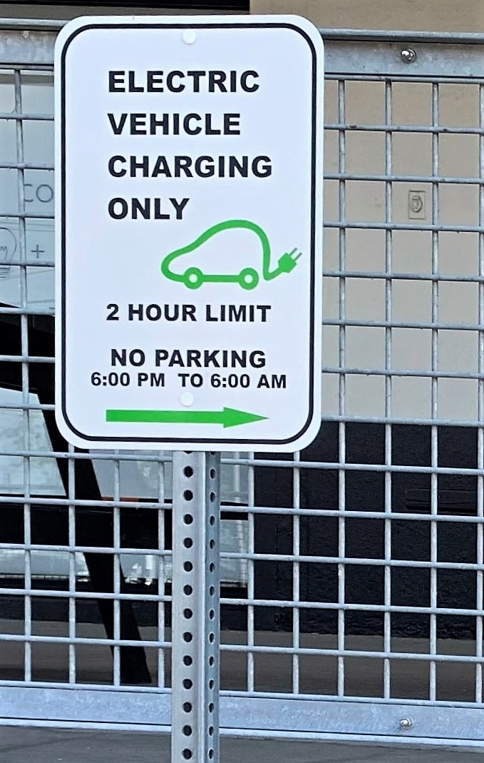 Vehicle Charging Sign