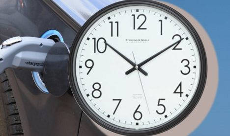Clock and vehicle charger