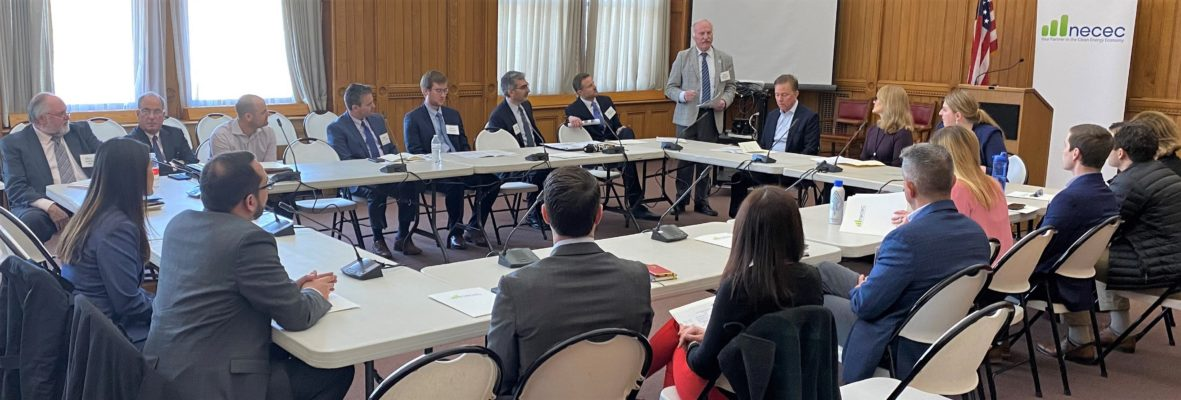 Steve Cowell and Governor Ned Lamont at Connecticut-NECEC-Energy-Briefing