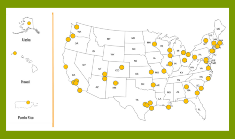 NSF Civic Innovation Challenge award locations
