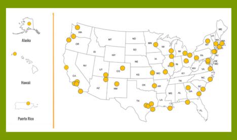 NSF Civic Innovation Challenge award locations